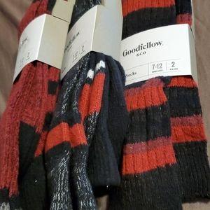 Mens Boot Socks Ultra Soft Size 7-12/ 3 pa…